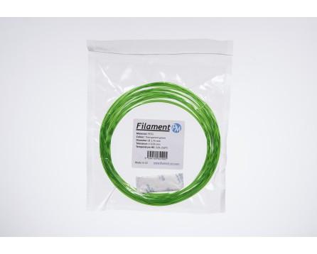 Sample PETG - transparent green (1,75 mm; 10 m)